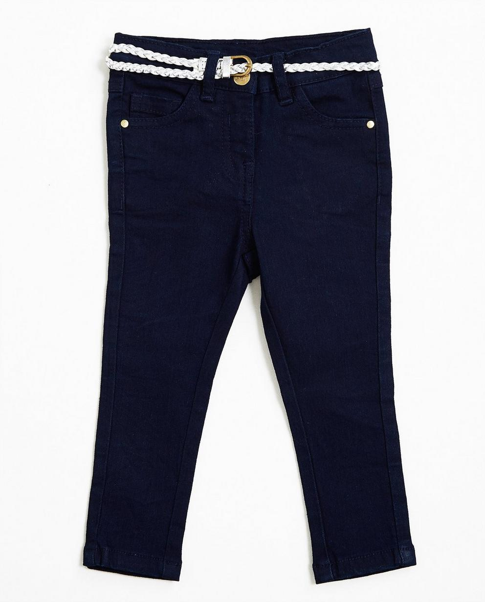 Nachtblaue Jeans - mit Metallic-Gürtel - JBC